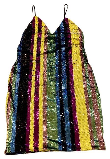 Item - Colorful Short Night Out Dress Size 12 (L)
