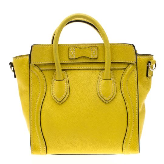 Céline Leather Tote in Yellow Image 1