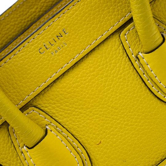 Céline Leather Tote in Yellow Image 10