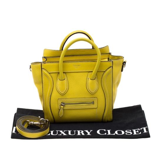 Céline Leather Tote in Yellow Image 11