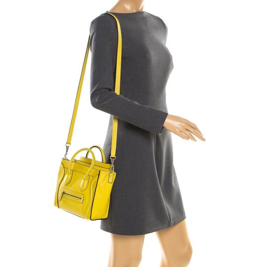 Céline Leather Tote in Yellow Image 2