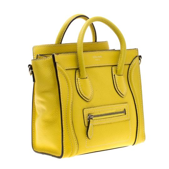 Céline Leather Tote in Yellow Image 3