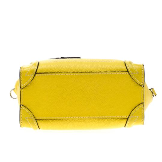 Céline Leather Tote in Yellow Image 4