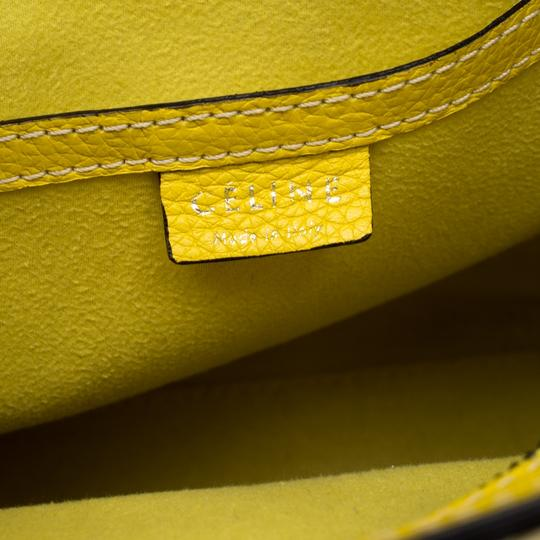 Céline Leather Tote in Yellow Image 7