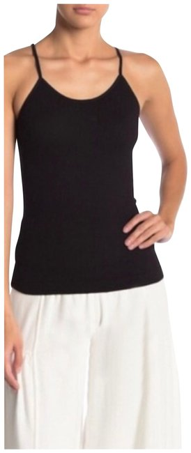 Item - Black New Shine On Ribbed Tank Sold Out Everywhere Activewear Top Size 2 (XS, 26)