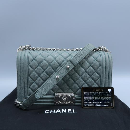 Chanel Boy Medium Caviar Shoulder Bag Image 1