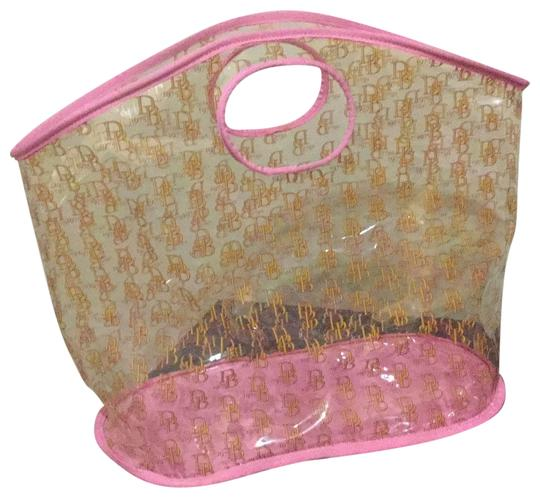 Preload https://img-static.tradesy.com/item/25718626/dooney-and-bourke-clear-pink-plastic-tote-0-1-540-540.jpg