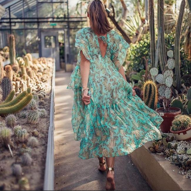green Maxi Dress by H&M Image 2