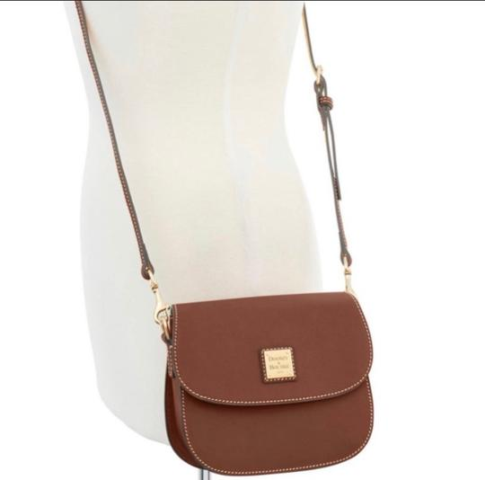 Dooney & Bourke Saddle/Gold Messenger Bag Image 1