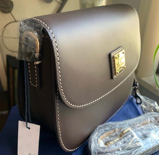 Dooney & Bourke Saddle/Gold Messenger Bag Image 6