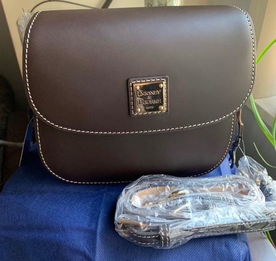 Dooney & Bourke Saddle/Gold Messenger Bag Image 7