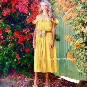yellow Maxi Dress by Zara