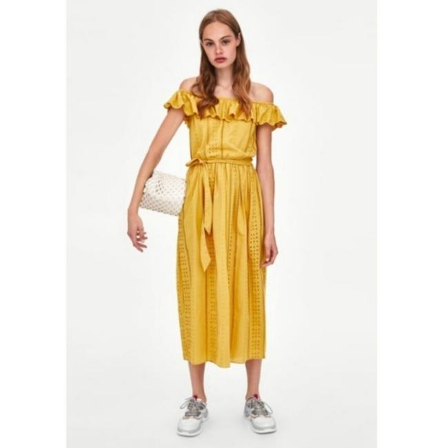 yellow Maxi Dress by Zara Image 2