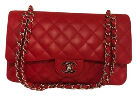 Preload https://img-static.tradesy.com/item/25718705/chanel-double-flap-classic-red-lambskin-leather-shoulder-bag-0-1-540-540.jpg