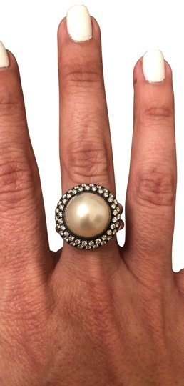 Preload https://img-static.tradesy.com/item/25718728/david-yurman-silver-with-diamonds-all-around-the-pearl-stone-limited-edition-cerise-8mm-large-ring-0-1-540-540.jpg
