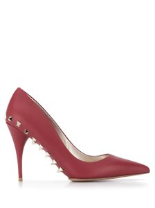 Valentino Jaw Stud Pointed Toe Red Rockstud Rosso (Red) Pumps