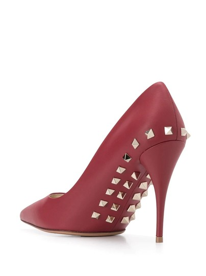 Valentino Jaw Stud Pointed Toe Red Rockstud Rosso (Red) Pumps Image 2