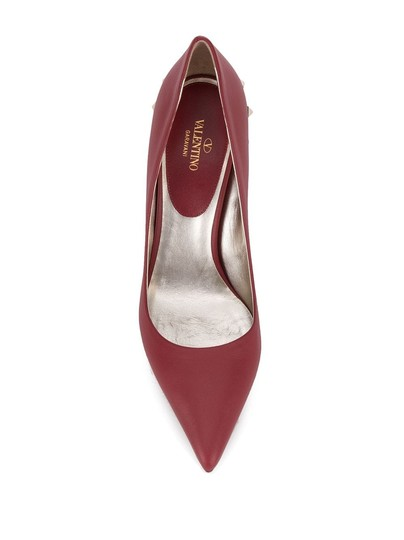 Valentino Jaw Stud Pointed Toe Red Rockstud Rosso (Red) Pumps Image 3