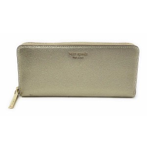 Kate Spade Kate Spade Sylvia Slim Continental Pale Gold Leather Wallet Clutch