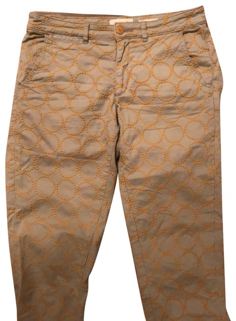 Item - Putty Color with Gold Embroidered Circles Chino Pants Size 6 (S, 28)