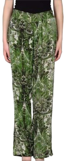 Just Cavalli Versace Shirring Waist Relaxed Pants Green/ Black Image 0