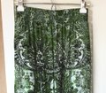 Just Cavalli Versace Shirring Waist Relaxed Pants Green/ Black Image 1