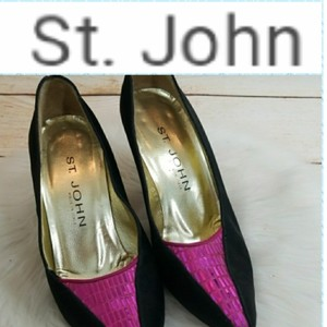 St. John pink and black Pumps