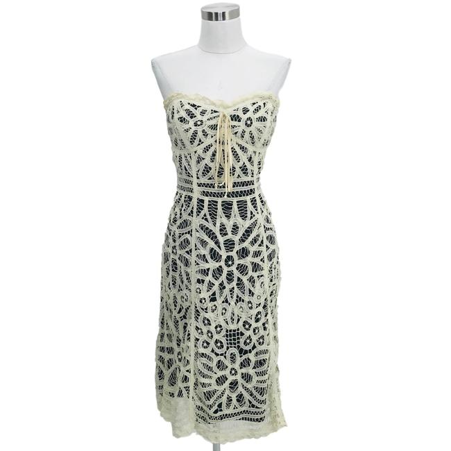 Preload https://img-static.tradesy.com/item/25718992/betsey-johnson-beige-black-n164-vintage-small-floral-lace-short-casual-dress-size-6-s-0-0-650-650.jpg