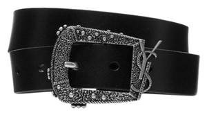 Saint Laurent monogram logo western belt size 75