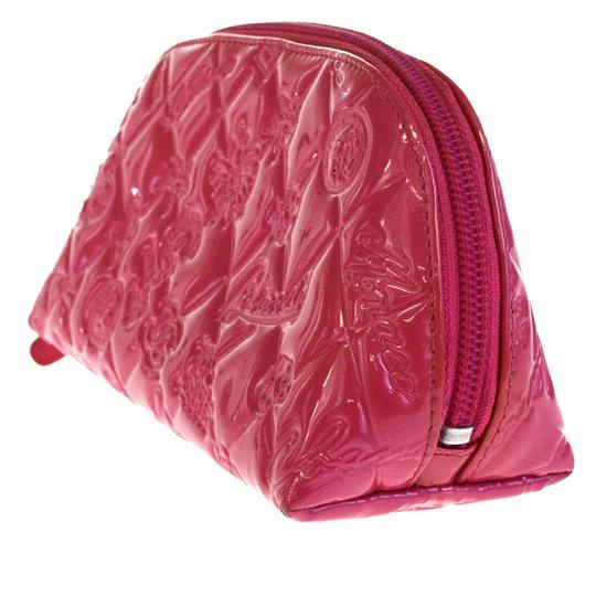 Chanel CHANEL CC Icon Quilted Cosmetic Pouch Hand Bag Patent Leather Pink Image 1