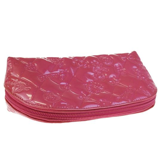 Chanel CHANEL CC Icon Quilted Cosmetic Pouch Hand Bag Patent Leather Pink Image 10