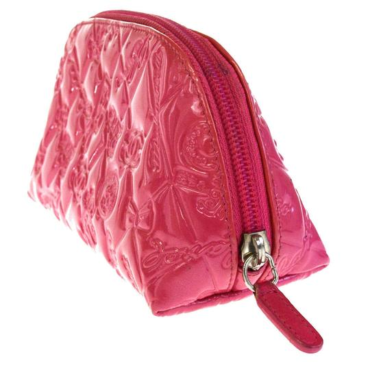 Chanel CHANEL CC Icon Quilted Cosmetic Pouch Hand Bag Patent Leather Pink Image 3