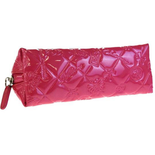 Chanel CHANEL CC Icon Quilted Cosmetic Pouch Hand Bag Patent Leather Pink Image 5