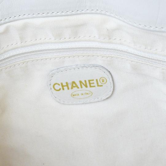 Chanel Made In Italy Tote in White Image 8