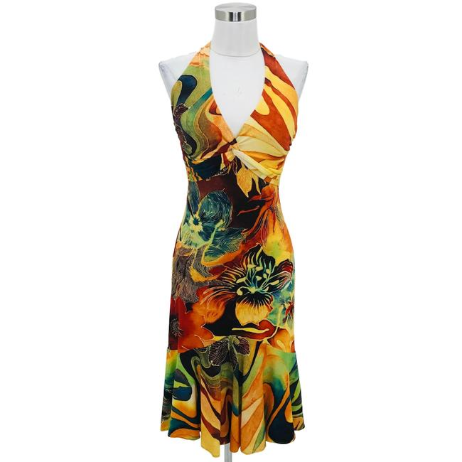 Preload https://img-static.tradesy.com/item/25719073/cache-yellow-green-n673-6-small-tropical-v-neck-mid-length-short-casual-dress-size-4-s-0-0-650-650.jpg