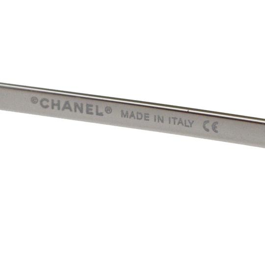 ch CHANEL CC Rhinestone Eye Sunglasses Eye Metal Plastic Silver Image 6