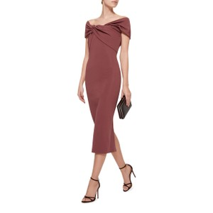Cushnie et Ochs Twisted Off Shoulder Crepe Bodycon Dress