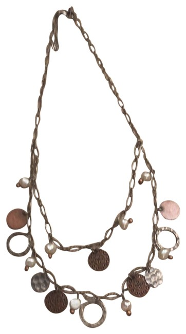 Item - Silver and Copper N1567 Necklace