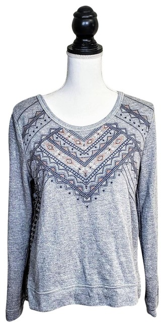 Preload https://img-static.tradesy.com/item/25719296/miss-me-gray-blue-orage-tribal-print-sweater-0-1-650-650.jpg