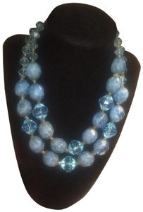 Vintage blue beads necklace