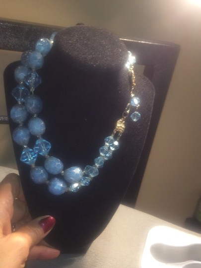 Vintage blue beads necklace Image 2