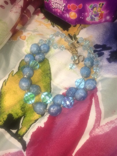 Vintage blue beads necklace Image 5