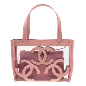 Chanel Patent Leather Canvas Tote in Pink
