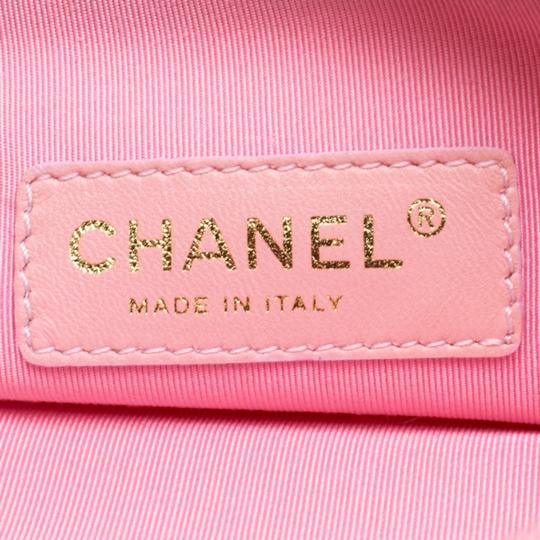 Chanel Patent Leather Canvas Tote in Pink Image 10