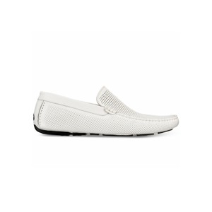 Kenneth Cole Reaction White Leather Flats