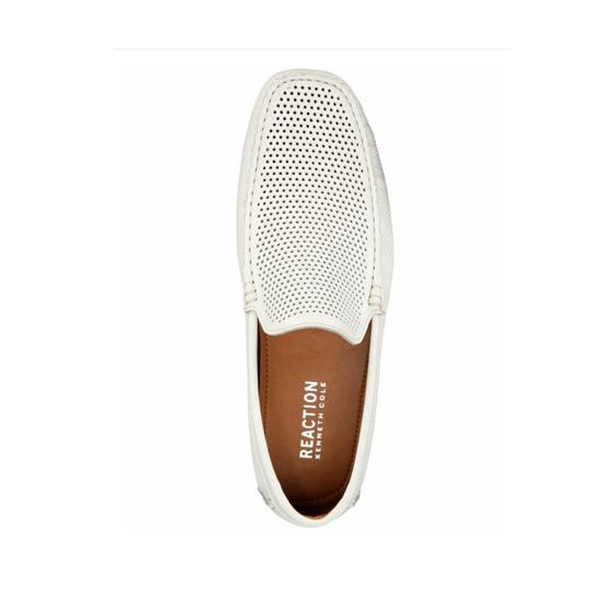Kenneth Cole Reaction White Leather Flats Image 1