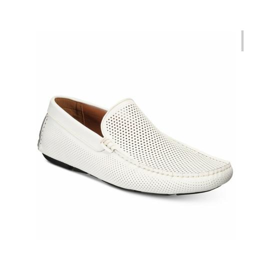 Kenneth Cole Reaction White Leather Flats Image 2