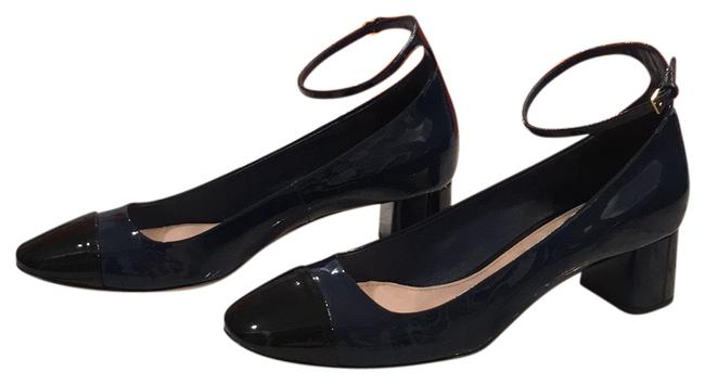 Item - Dark Navy and Black Subtle Two Tone Patent Leather Flats Size EU 39 (Approx. US 9) Regular (M, B)