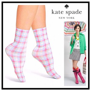 Kate Spade KATE SPADE SIGNATURE PLAID PRINT TROUSER ANKLE SOCKS