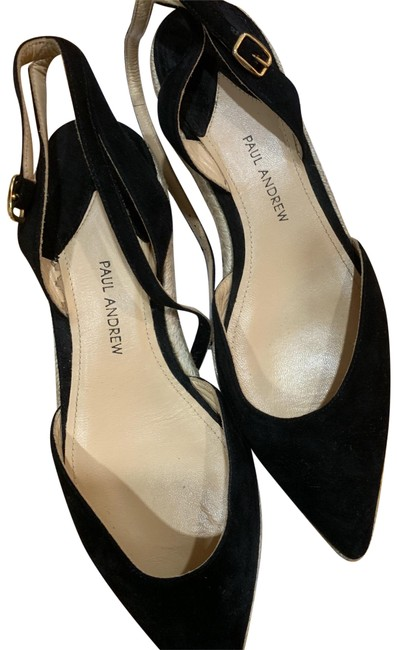 Size 6.0 Black Paul Andrew Womens Anya Pointed Toe Casual Ankle Strap Sandals
